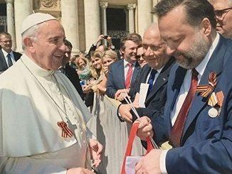 Pope Francis with rus nazi symbols